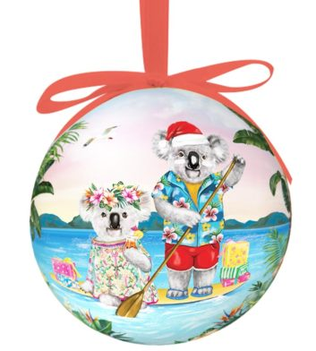 Sunshine Lovers Paddle Boxed Christmas Bauble