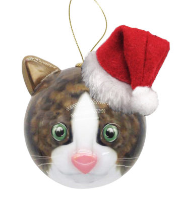 3D Kitten Christmas Bauble
