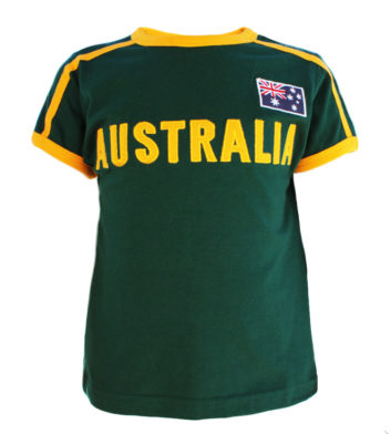 Green & Gold Applique Kids T-Shirt