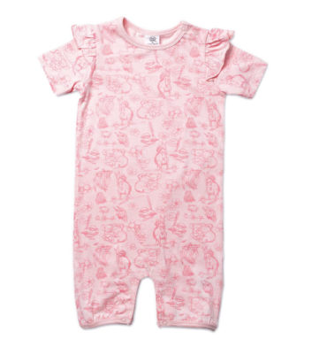 May Gibbs Rose Romper - Bush Blooms