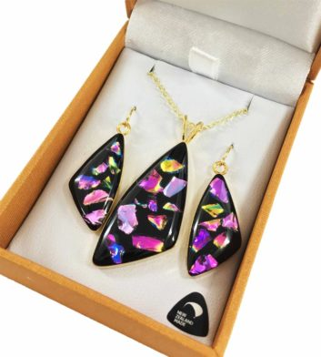 Rainbow Pendant & Earrings Set