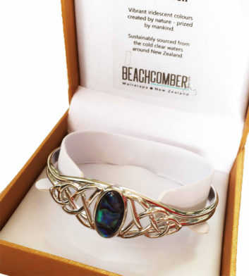 Paua Shell Celtic Bangle