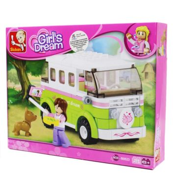 SLUBAN GIRLS DREAM TOURING WAGON - 158 PCS