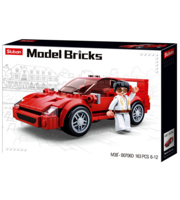 SLUBAN MODEL BRICKS RED SPORT CAR - 163 PCS