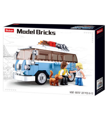 SLUBAN MODEL BRICKS CAMPERVAN - 227 PCS