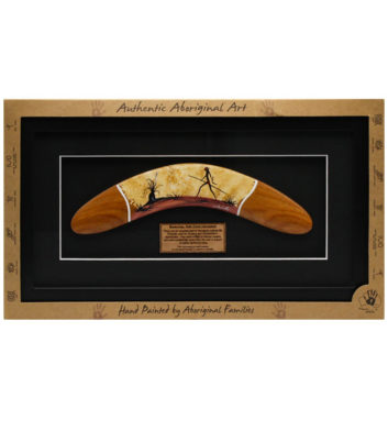 Framed Aboriginal Boomerang
